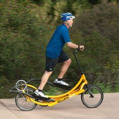 Savannah, this is what you want! ElliptiGo - The Elliptical Bicycle.  Running without the impact.
