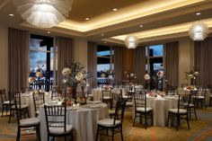 Dockside Room wedding reception venue in San Diego at Paradise Point Resort & Spa. #WeddingVenues