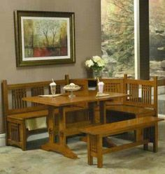 Wood Kitchen Table With Bench Seating Designs Ideas | Dining Bench ...