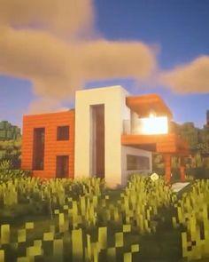 Project Minecraft, Craft Minecraft, Easy Minecraft Houses, Minecraft House Tutorials, Minecraft Room, Minecraft Plans, Minecraft House Designs, Minecraft Decorations, Minecraft Construction