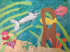 BES Art: Underwater Collages elementary art education lesson