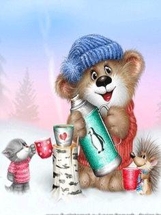 "Photo from album ""Коты Алексея Долотова"" on Yandex. Kitten Cartoon, Honey Bee Stamps, Good Morning Happy, Views Album, Caricature, Yandex, Animals Beautiful, Cats And Kittens, Character Art"