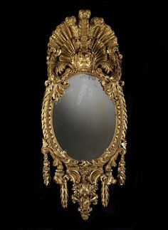 Mirror attributed to William Kent, probably for the White House, Kew, 1733–34. Carving attributed to John Boson. Gilt pine, mirror glass © Victoria and Albert Museum, London