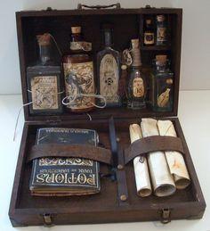 Potter frenchy party - Travaux pratiques : coffrets et kits pour les cours de magie et de potions - diy - harry potter inspiration - hogwarts - alchemy set