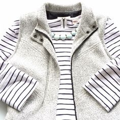 HP! ✨Coldwater Creek grey knit vest Stunning zip up knit vest!! It is so soft and comfortable to wear! Two tiny spots in front...unnoticeable because of pattern. It also has a slight v pattern in front! Bust 22 inches. Length 26 inches. Coldwater Creek Jackets & Coats Vests