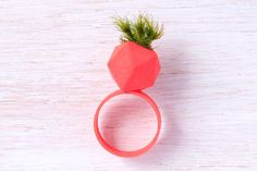 Printed Wearable Planter Ring - Design Milk - Since electronic devices such a. - Electronics gadgets,Electronics apple,Electronics for teens,Electronics organization,Electronics projects Wearable Device, Wearable Technology, Medical Technology, Energy Technology, Technology Gadgets, 3d Printed Objects, 3d Printed Jewelry, Coral, 3d Prints