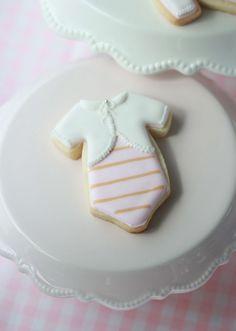 Baby cardigan onesie cookies