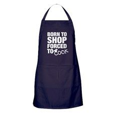 FORCED TO COOK Apron (dark)