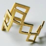 gold geometric jewellery - Google Search