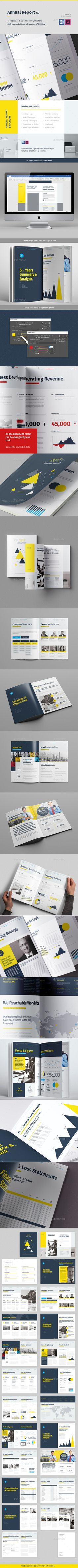 Annual Report Brochure — InDesign INDD #brochure #shareholders • Available here → https://graphicriver.net/item/annual-report-brochure/20979247?ref=pxcr