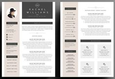 4 page curriculum vitae / modèle de CV lettre de motivation ---CLICK IMAGE FOR MORE--- resume how to write a resume resume tips resume examples for student Cover Letter For Resume, Cover Letter Template, Cv Template, Letter Templates, Resume Templates, Cover Letters, Resume Design Template, Layout Template, Templates Free