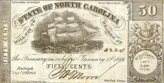 Old money .50 from the State of North Carolina
