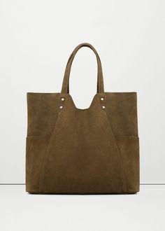 Deri shopper çanta | MANGO