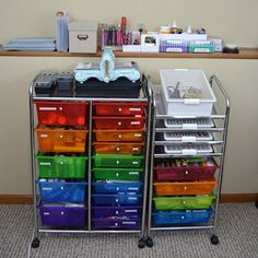 Alternate product shot 2026-105 & Darice® Rolling Craft Storage Cart with 15 Drawers | Pinterest | Pvc ...