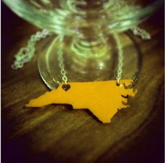 New Boone, NC necklace in App State yellow!