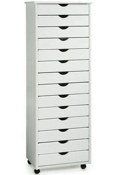 Stanton 14-Drawer Wide Storage Cart ( This is a great cart to store rubber stamps or collage materials in.)
