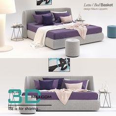 awesome 38.Double Bed Basket Bonaldo Download here: http://3dmili.com/furniture/bed/38-double-bed-basket-bonaldo.html