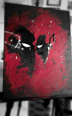 Custom Abstract Deadpool Painting (Made to Order) by EmmasCellarDoor on Etsy