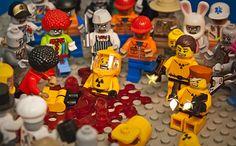 HazmatGuys in trouble Lego Robot, Lego War, Lego Lego, Custom Zombies, Iron Man Cartoon, Lego Zombies, Lego Simpsons, Lego Videos, Lego Sculptures