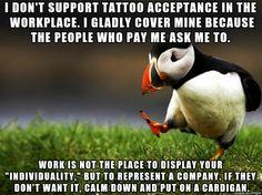 As a p/t tattoo artist with an office job...