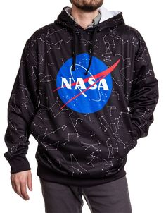 For any aspiring astronaut, we've got your clothing needs covered with our officially licensed Men's NASA Constellations Hooded Pullover. Doctor Who Dress, Star Wars Shoes, High Pictures, Constellations, Hoods, Graphic Sweatshirt, Pullover, Sweatshirts, Meatball