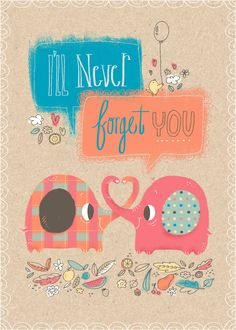 Valentine's Day I'll Never Forget You greeting card http://rdbl.co/1BPWr2L