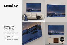 Product Mockups: creatsy2 - Canvas Print Many Sizes Mockup Set