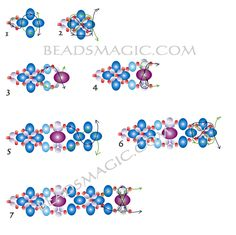 Free pattern for bracelet Palermo - 2.---   U need:  rondelle beads 4 mm  rondelle beads 5-6 mm  rondelle beads 8mm  faceted beads 4 mm  seed beads 11/0
