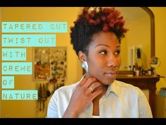 Tapered Fro Tutorial | Twist Out w/ Crème of Nature Argan Oil Line - YouTube