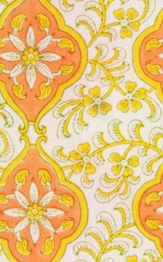 Block print. Udaipur fabric from Rikshaw Design.