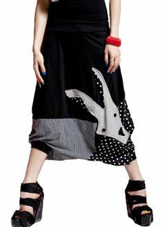 Amazon.com: ELLAZHU Women Oversized Baggy Harem Goat Capri Short Pant Trouser Onesize GY09: Clothing
