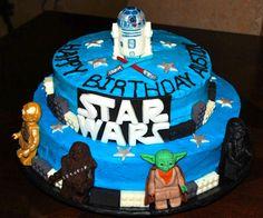 Lego Star Wars Cake  - handmade modeling chocolate figures