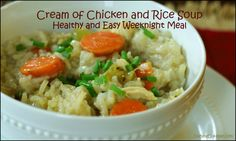 Cream of Chicken and Rice Soup: Gluten free AND clean eating!