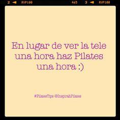 """@inspirahpilates's photo: """"En lugar de ver la tele una hora haz #pilates una hora... #PilatesTips"""""""
