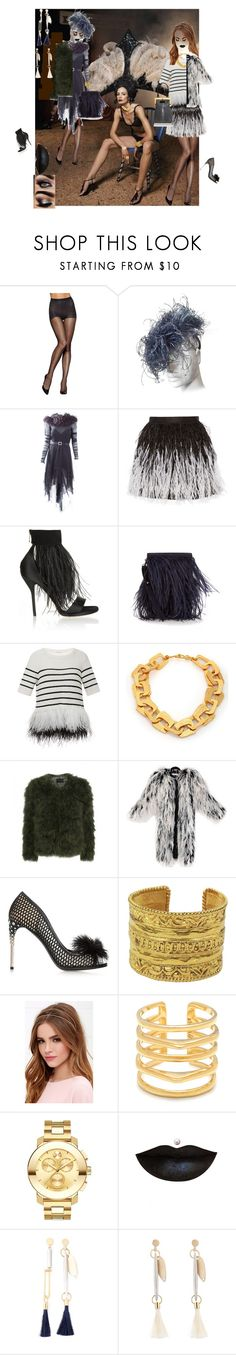 """""""OSTRICH FEATHERS IN THE MIX"""" by msdejazzy ❤ liked on Polyvore featuring Hanes, Yves Saint Laurent, Alice + Olivia, Paul Andrew, Marques'Almeida, Oscar de la Renta, Stephanie Kantis, Stine Goya, Miu Miu and Perrin"""