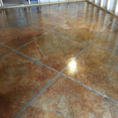 Rustic Interior/Exterior Concrete Acid Stain EDADR at The Home Depot - Mobile Acid Stained Concrete Floors, Acid Concrete, Painting Concrete Floors, Concrete Stain Colors, Living Pool, Barn Living, Metal Building Homes, Metal Homes, Do It Yourself Baby