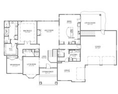 Rambler Floor Plans With Basement   Google Search