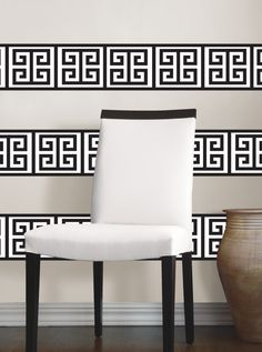 Black and White Wall Stripe by Jonathan Adler for WallPops