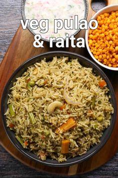 Veg Pulav Recipe, Vegetable Pulao Recipe, Chaat Recipe, Veg Pulao, Pulao Rice, Puri Recipes, Spicy Recipes, Cooking Recipes, Vegan Recipes