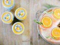 Orange Rosemary Spritz - Pellegrino, Lillet, Aperol, Prosecco, Rosemary, Sugar, Orange.