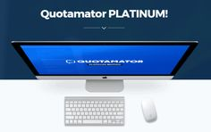 Quotamator PRO Platinum Version Upgrade OTO - Great OTO #1 of Quotamator PRO Visual Quote Creator Software with Upgrade 40,000,000 (Forty Million) Quotes plus 365 Days Automation, Super-Charged 50,000 Quotes Database, 500 Jaw-Dropping, Beautiful Images and 27 Professionally Approved Fonts with Advanced Training