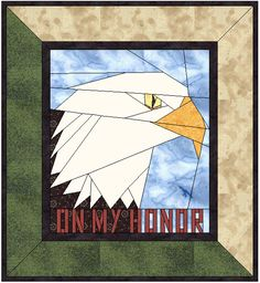 On My Honor instant download – Quilt a Temple