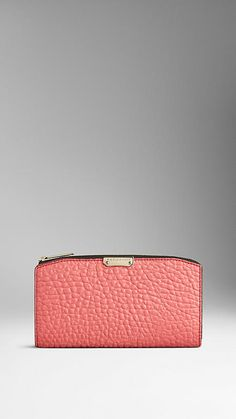 Burberry Rose pink Signature Grain Leather Continental Wallet - Image 1