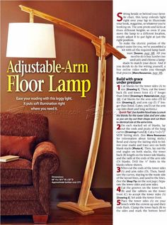 #1647 Wooden Floor Lamp Plans - Other Woodworking Plans and Projects