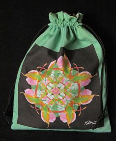Nature Mandala Drawstring Bag  Lady's by Allenx2PhotoandCraft, $20.00