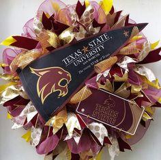 Texas State University San Marcos Bobcats by SouthernHeartWreaths                                                                                                                                                                                 More