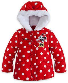 Minnie Mouse Hooded Puffy Jacket for Girls on shopstyle.com