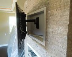 Image result for recess mounted tv