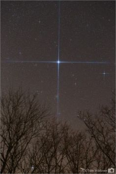 The star Sirius and the nearby star cluster M41 caught on January 2, 2016 in Weatherly, Pennsylvania. - Photo by Tom Wildoner at LeisurelyScientist.com