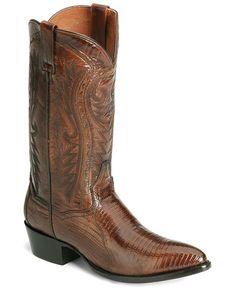 Dan Post Teju Lizard Western Boots - Pointed Toe
